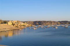 Fishing village on Lake Nasser Stock Photos