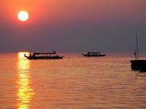 Fishing village on the lake Royalty Free Stock Image