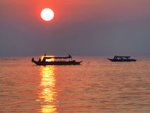 Fishing village on the lake Stock Photo