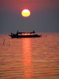 Fishing village on the lake Royalty Free Stock Photo