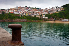 Fishing village of Lastres Stock Images
