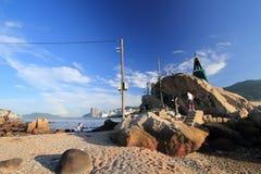 Fishing village of lei yue mun Royalty Free Stock Image