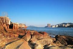 Fishing village of Lei Yue Mun in Hong Kong Stock Photo