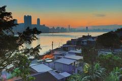 Fishing village of Lei Yue Mun in Hong Kong Stock Images