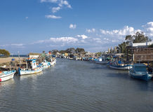 The fishing village Stock Images