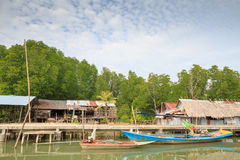 Fishing Village. Located at TRAT province, Thailand Royalty Free Stock Image