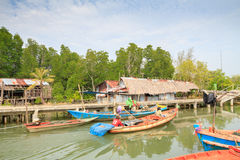 Fishing Village. Located at TRAT province, Thailand Royalty Free Stock Photos
