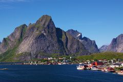 Fishing Village on Lofoten Stock Photo