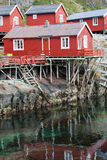 Fishing village in Lofoten Royalty Free Stock Images