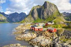 Fishing village in Lofoten royalty free stock photo