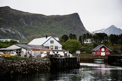 Fishing village on Lofoten Islands in Norway. Photo of a fishing village on Lofoten Islands, Norway. Nature photography Stock Photography