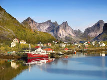 Fishing Village Lofoten Norway Royalty Free Stock Photography