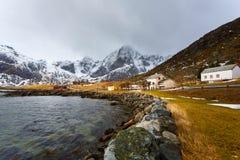 Fishing village in Lofoten Stock Photography