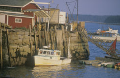 Fishing Village in Maine royalty free stock images