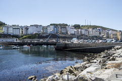 Fishing village of Malpica. In galicia Royalty Free Stock Image