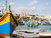 Fishing village of Marsaskala Stock Images