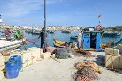The fishing village of Marsaxlokk on Malta island Stock Image