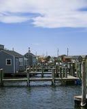 Fishing village in Massachusetts Stock Images