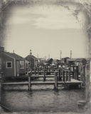 Fishing village in Massachusetts Stock Photography