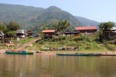 Fishing Village Muang Ngoi Neua In Laos Stock Photos
