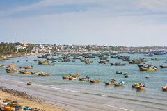 Fishing village in Mui Ne Royalty Free Stock Images