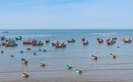 Fishing village. Mui Ne. Vietnam Royalty Free Stock Photo