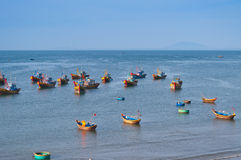 Fishing village. Mui Ne. Vietnam Stock Photography