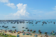 Fishing village. Vietnam royalty free stock image