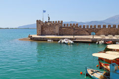 Fishing village of Nafpaktos in Greece Royalty Free Stock Photography