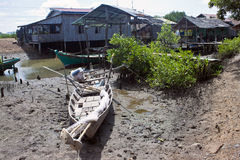 Fishing village near Kampot Royalty Free Stock Photo
