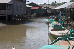 Fishing village near Kampot Stock Images