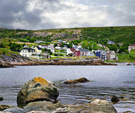 Fishing village in Newfoundland. Quaint seaside fishing village in Newfoundland Canada Stock Photos