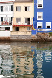 Fishing village with nice houses attached to the sea Royalty Free Stock Images