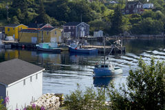 Fishing Village of Northwest Cove, Nova Scotia Royalty Free Stock Photos