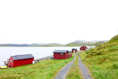 Fishing village in Norway Royalty Free Stock Photos