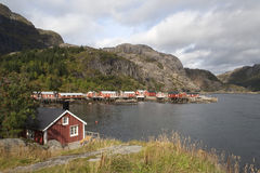 Fishing village of Nusfjord, on the Lofoten Island Stock Images