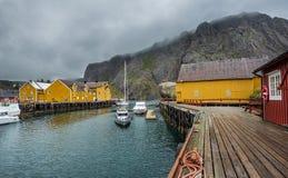 Fishing Village Of Nusfjord On Lofoten Islands, Norway Royalty Free Stock Photography