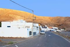 Fishing village panorama mountains, Fuerteventura,Canary Islands Royalty Free Stock Image