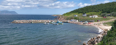 Fishing Village Panorama Royalty Free Stock Images