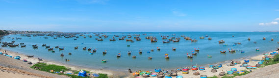 Fishing village. Panoramic view of Mui Ne fishing village, Vietnam, Southeast Asia Royalty Free Stock Photography