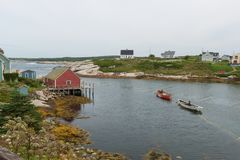 FIshing village. Peggy`s Cove, Nova Scotia, Canada Stock Photography