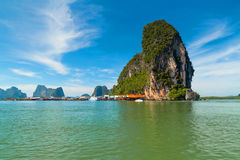 Fishing village at Phang Nga Bay in Thailand Royalty Free Stock Image