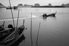 Fishing Village at Phang-Nga Stock Images
