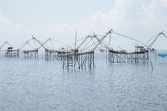 Fishing Village in Phatthalung Stock Images