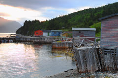 Fishing village Royalty Free Stock Images