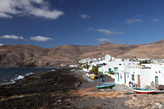 Fishing village Playa Quemada, Lanzarote Royalty Free Stock Image