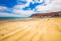 Fishing village Pozo Negro with stone and sandy beach, Fuerteventura, Canary Island, Spain. Stock Photography