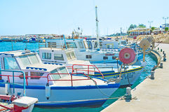 In fishing village Royalty Free Stock Images