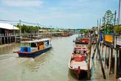 "Fishing Village, Pulau Ketam, Malaysia. Pulau Ketam, literally translated, means ""crab island"". It is a small island located off the coast of Klang Stock Photography"