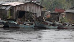Fishing village stock footage